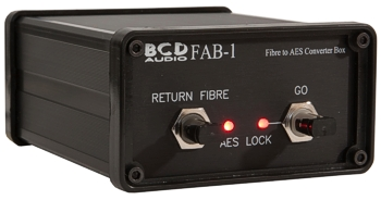 BCD Audio - Fibre to AES-3 Box